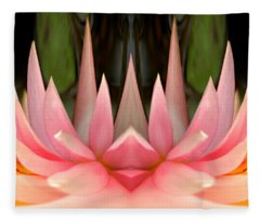 Abstract Pink Water Lily Fleece Blanket