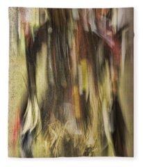 Abstract Pow Wow Dancer Fleece Blanket
