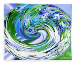 Abstract Reflections Digital Art #3 Fleece Blanket