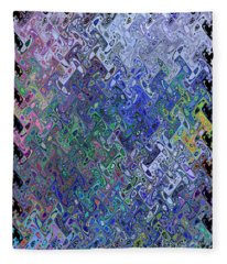 Abstract Reflections Fleece Blanket