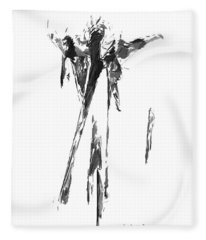 Abstract Series I Fleece Blanket