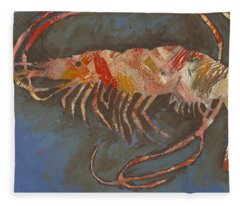 Abstract Shrimp Fleece Blanket