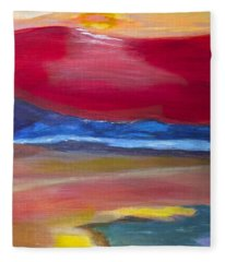 Abstract Sunet Fleece Blanket