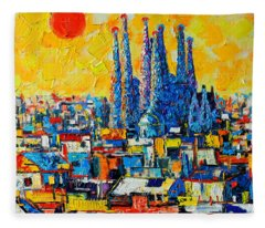 Architectural Style Fleece Blankets