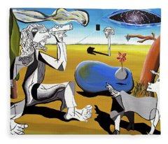 Abstract Surrealism Fleece Blanket
