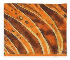 Abstract Tiger Stripes Fleece Blanket
