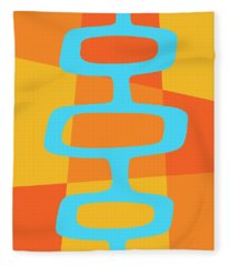 Abstract With Turquoise Pods 3 Fleece Blanket