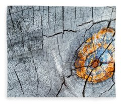 Abstract Woodgrain Upclose 6 Fleece Blanket