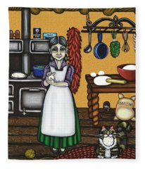 Abuelita Or Grandma Fleece Blanket