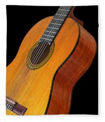 Acoustic Guitar Fleece Blanket