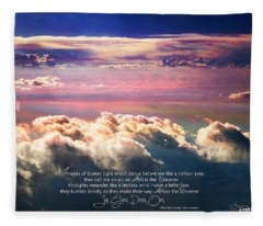Across The Universe Fleece Blanket