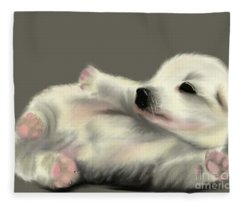 Adorable Pup Fleece Blanket