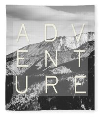 Adventure Typography Fleece Blanket