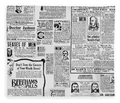 Advert - Edwardian Mens Health Fleece Blanket