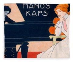 Advertisement For Kaps Pianos Fleece Blanket