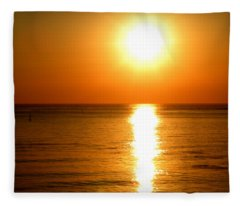 Aegean Sunset Fleece Blanket