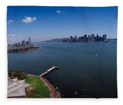 Aerial View Of A Statue, Statue Fleece Blanket