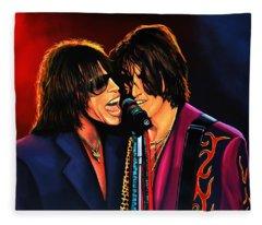 Aerosmith Toxic Twins Painting Fleece Blanket