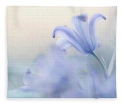 Aethereal Blue Fleece Blanket