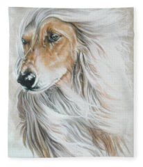 Afghan Hound Fleece Blanket