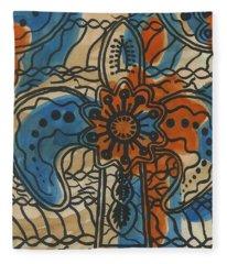 African Cross Fleece Blanket