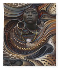 African Spirits I Fleece Blanket