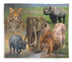 Rhinocerus Fleece Blankets