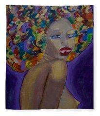 Afro-chic Fleece Blanket