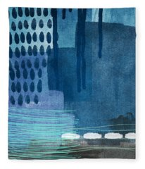 After Rain- Contemporary Abstract Painting  Fleece Blanket