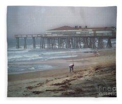 After The Hurricane Fleece Blanket