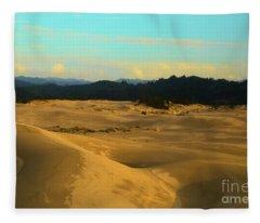 Afternoon At Oregon Dunes Fleece Blanket