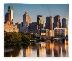 Afternoon In Philly Fleece Blanket