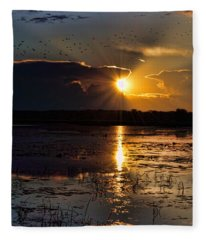 Late Afternoon Reflection Fleece Blanket