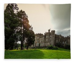 Afternoon Sun Over Markree Castle Fleece Blanket