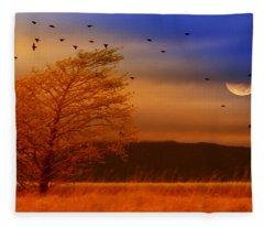 Against The Wind Fleece Blanket