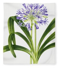 Agapanthus Fleece Blanket