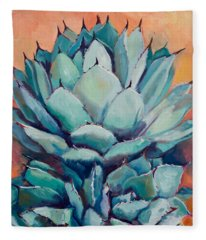 Agave With Pups Fleece Blanket