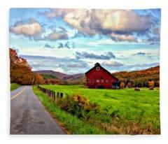 Ah...west Virginia Painted Fleece Blanket