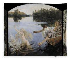 Aino Myth. Triptych Fleece Blanket
