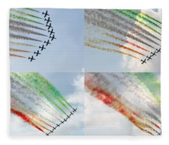 Air Show  Fleece Blanket