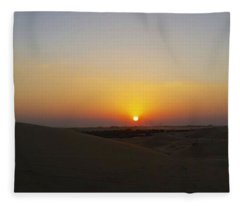 Al Ain Desert 15 Fleece Blanket