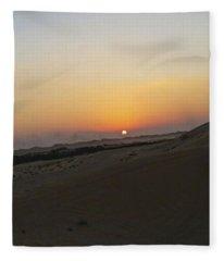 Al Ain Desert 20 Fleece Blanket
