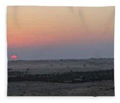 Al Ain Desert 7 Fleece Blanket