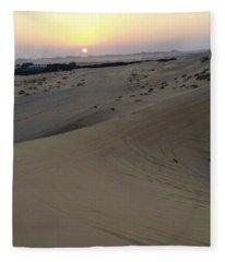 Al Ain Desert 8 Fleece Blanket