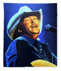 Alan Jackson Painting Fleece Blanket