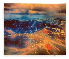 Alaska From The Air Fleece Blanket