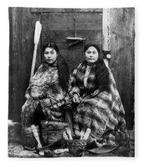 Alaska Tlingit Women, C1900 Fleece Blanket