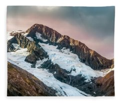 Alaskan Mountain Glacier Fleece Blanket
