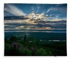 Alaskan Summer Sunset Fleece Blanket