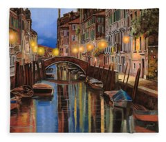 alba a Venezia  Fleece Blanket